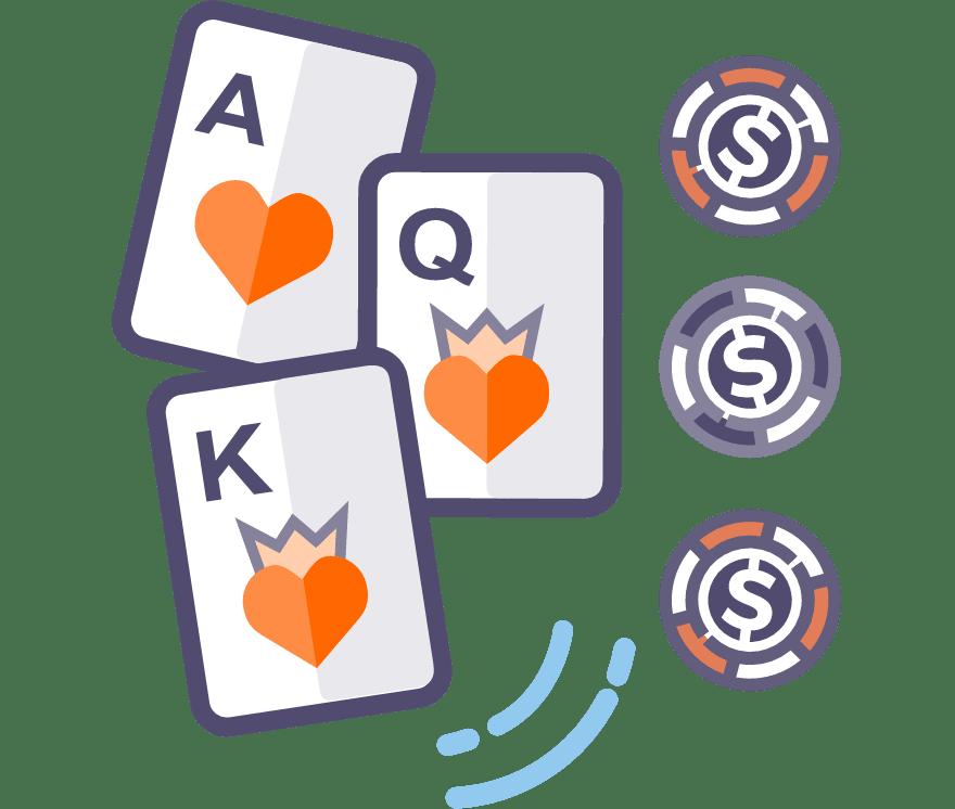 35 parimat Mobiili Casinot, mille mängude hulgas on 2021. aastal Kolme kaardi pokker